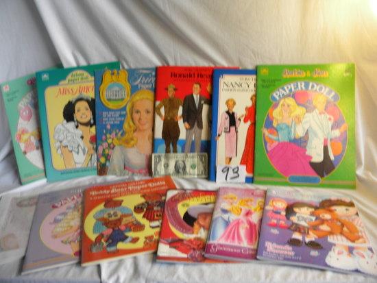 "Cut-Out Dolls, ""disney 4 Dolls""; ""ronald And Nancy Reagan"", Annie Oakley""; Barbie And Ken"""
