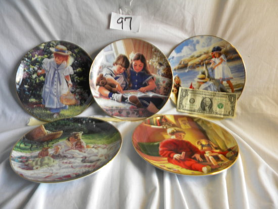 """12Collector  Plates=""""children's Day By The Sea""""; """"eric And Erin's Story Time""""; Christ"""