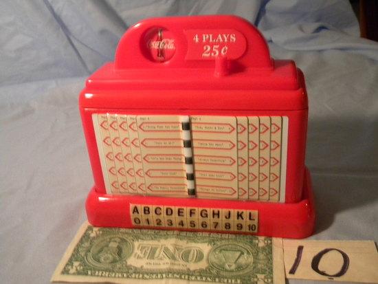 Coca Cola = Juke Box  replica  coin bank