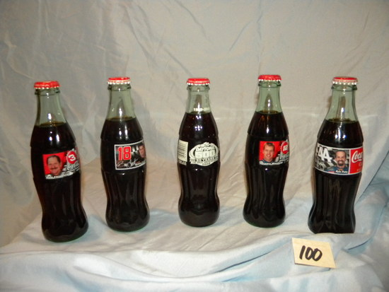 Coca Cola=full Bottles W/carton-jeremy Mayfield, Kyle Petty, Bobby Labonte,