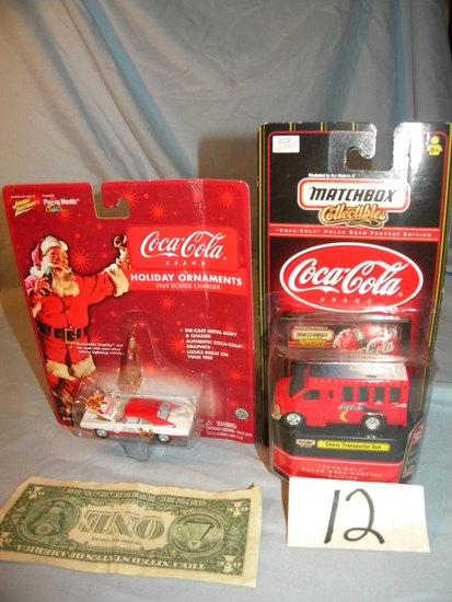 Coca Cola= Chevrolet Transport; Johnny Lightning Dodge