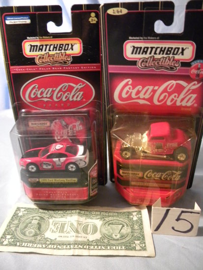 Coca Cola= 1944 Mustang Hard Top; 1932 Ford Coup.