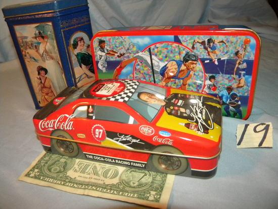 Coca Cola= Pencil Box; Old Lady Costume Designs; And More.