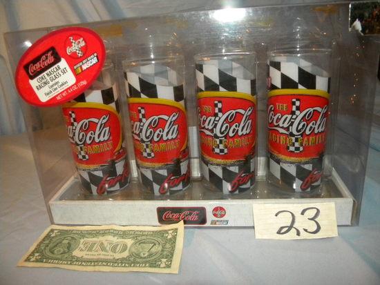 "Coca Cola= ""raising Family"", 4 Glass Set."