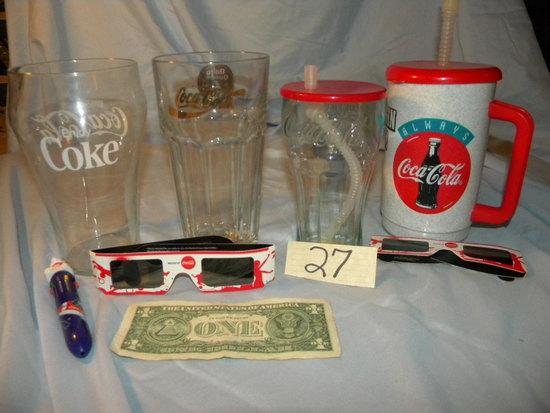 Coca Cola= 24 Oz Glass; 12 Oz Glass; And More.