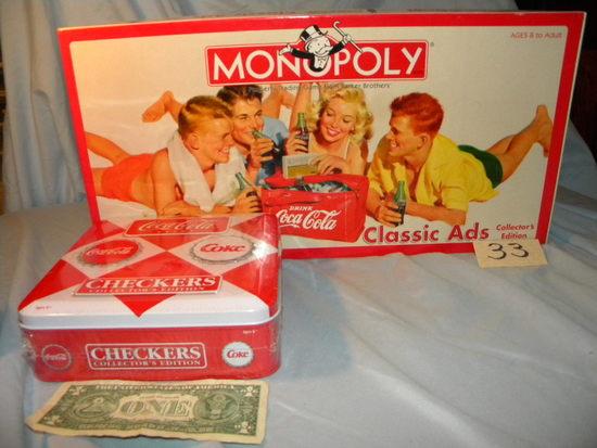 Coca Cola=monopoly; Checker.