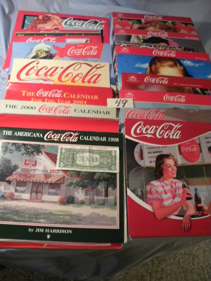 Coca Cola= Variety Of Annual Calendars, 1998-1017.