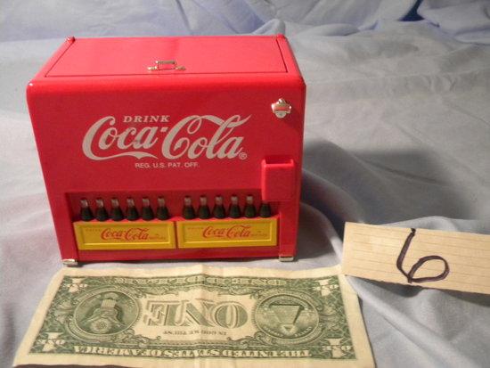 Coca Cola= Music Box Cooler Bank