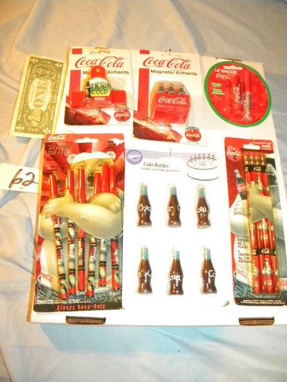 Coca Cola= Six Variety Pieces