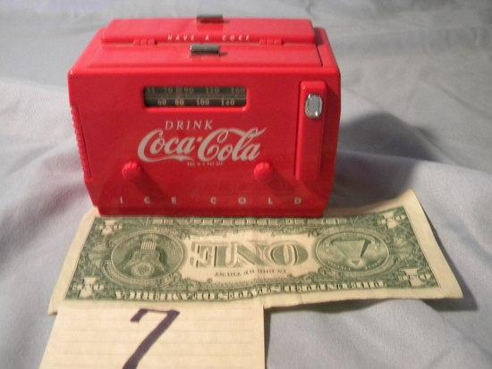 Coca Cola= Radio Cooler Bank