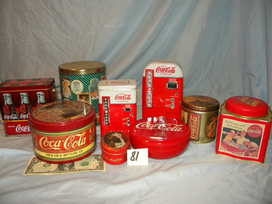 Coca Cola= Nine Tins And Many Other Items.