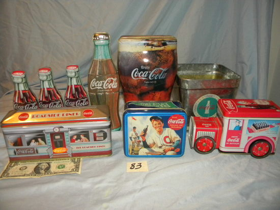 Coca Cola= (8) Tins, Variety collection