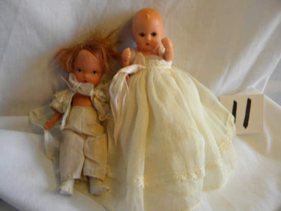 "Story Book Dolls= #10, Baby Confirmation Dress, W/mechanical Eyes, 5""h; """