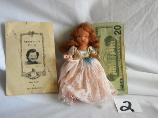 "Story Book Doll ""nancy Ann"", W/box, 5""h, W/stand; Booklet."