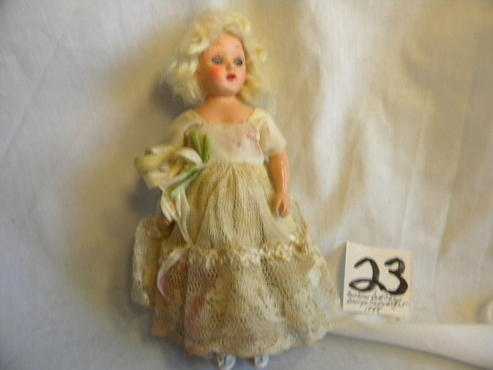 "Storybook Doll, 1848; Duchess Doll Corp W/stand And Mechanical Eyes, 5""h."