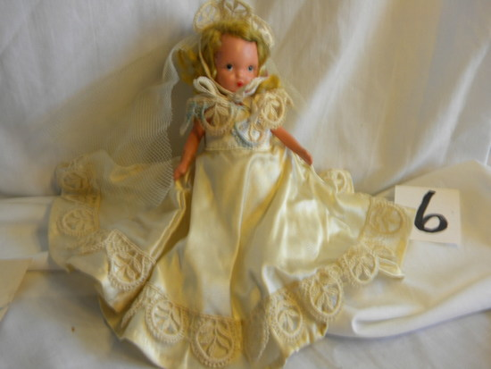 "Story Book Doll, ""bride"", W/stand, W/box, 5""h."