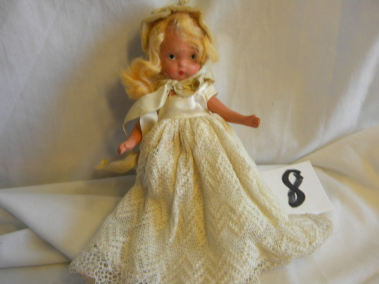"Story Book Doll, Fixed Eyes; #17, W/ Box. 5""h."