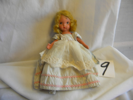 "Story Book Doll,fixed Eyes, W/box, 5""h."