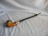 Wood Bowl W/metal Insert, Wood Stem, 19