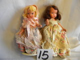 Pair Of Story Book Dolls With Painted Eyes, W/stand, 5