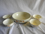 Halls Superior Kitchenware= (4) Soup Bowl W/handles; Serving Bowl, 3