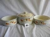 Halls Superior Kitchenware= (4) Stacking Bowls W/lid, 2