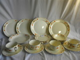 Halls Superior Kitchenware=(4) Berry Bowls; (4) Dinner Plates; (4) Cup And