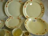 Halls Superior Kitchenwares= (4) Dinner Plates, 9