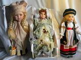 Three Seymour Mann Dolls,