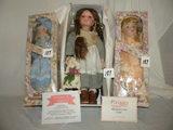 Three dolls=(1)Pleiades Doll, (no Name),17 1/2