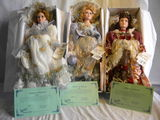Three= Duckhouse Heirloom Dolls-