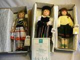 Three= Heirloom International Dolls=