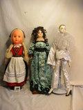Three Dolls= Tall Biqsue Doll, 20