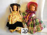 Pair Of Story Book like Dolls, Brunette And Black Hair, 7