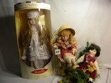 Three Dolls= Mundia Doll In Box, Fixed Eye, Christmas, 21