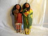 Pair Of Indian Dolls, 11