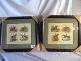 Pair Of Identical Horse Prints=
