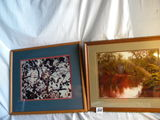 Pair, Scenic Views, Matted, Wood Frames, 15