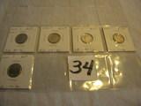 Dimes-mint Ch-bu= 2003 D, 2006 D, 2007 D& P, 2010 P.