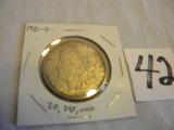 Morgan Silver Dollar, 1921d
