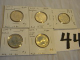 Mint Quarters, (5) Ch=bu, 2014d=