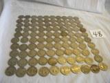 100 Worn Buffalo/indianhead Nickels.