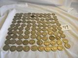 98 Worn Buffalo/indianhead Nickels.
