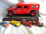Matchbook Cars = Tootsie Toy, Fire Truck; Racing Champion #30; Racing Champ