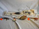 Pair Buck Tail Spinner-treble Hooks; (4) Single Hook Buck Tail Fly; Double