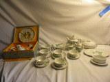 Set= (6) Cup/saucer; Gravy Bowl; (6) Dinner Plates; Serving Tray; Cream/sug
