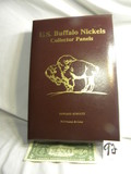 Book, Us Buffalo Nickles, Collection Panes, 1913-1938, W/commemorative Stam