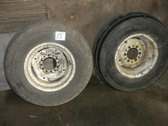 "Pair Of Implement Tires And Rims, 16""."