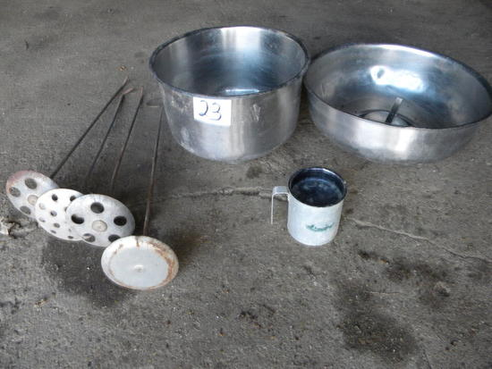 Two Stainless Strainers, Four Milk Stirrers'