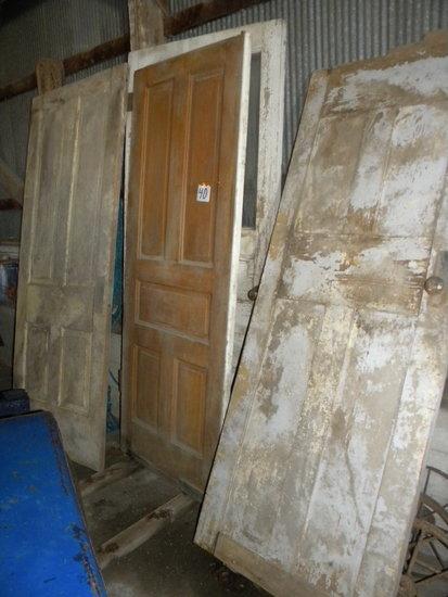 3 Old Wood panel Doors